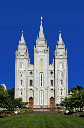 salt lake city: Mormon Temple, Salt Lake City, Utah Stock Photo