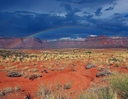 Canyonlands NP storm with rainbow