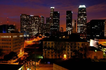 good samaritan: Los Angeles at dawn  Stock Photo