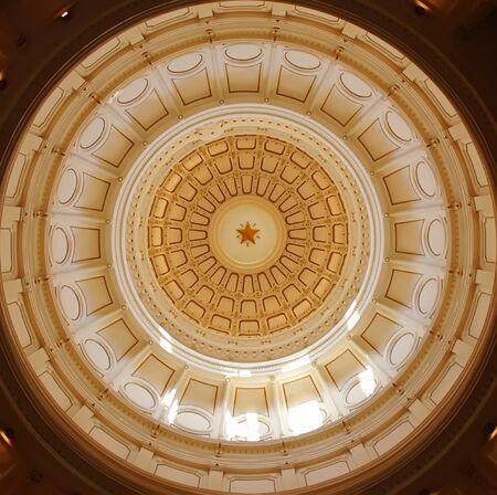 Interieur koepel Capitol van Texas in Austin TX Stockfoto