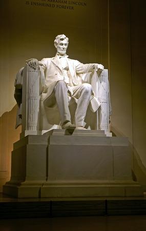 Lincoln Memorial at night in Washington, DC Stockfoto