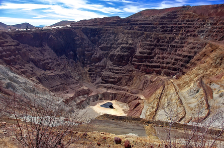 Bisbee Open Strip Mine, Arizona Stock Photo
