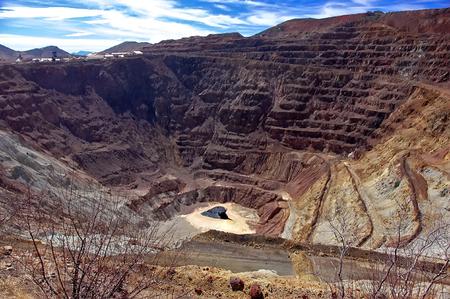 Bisbee Open Strip Mine, Arizona Stockfoto