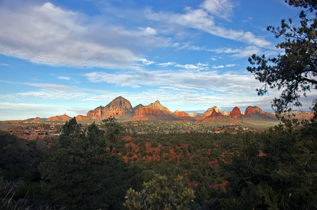 Sedona Mountains in Early Morning Stock Photo