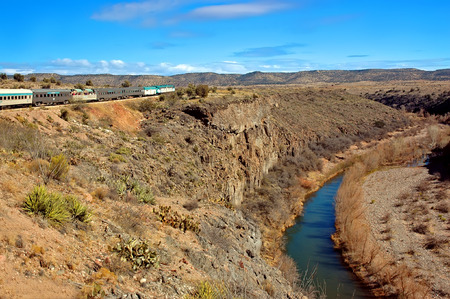 Verde Canyon with Train and River