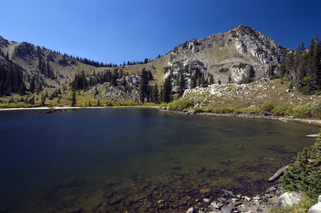 wasatch: Hidden Lake in the Wasatch Mountains, Utah