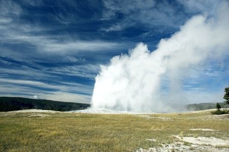 Old Faithful in Yellowstone NP