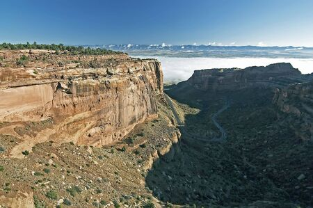 Colorado National Monument Vista with Fog
