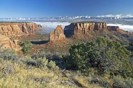 Colorado National Monument Vista with Fog