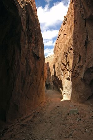 Slot Canyon at Escalante NP Stock Photo