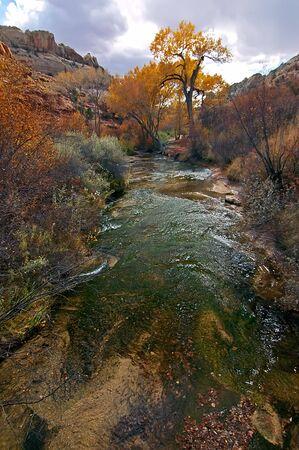 Calf Creek Falls Stream in Fall