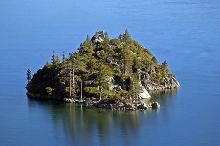 Lake Tahoe Nevada Emerald Bay Fannette Island Stock Photo - 2119646