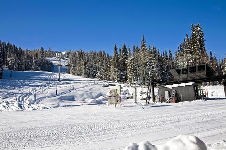 Ski Lift in Wasatch Mountains