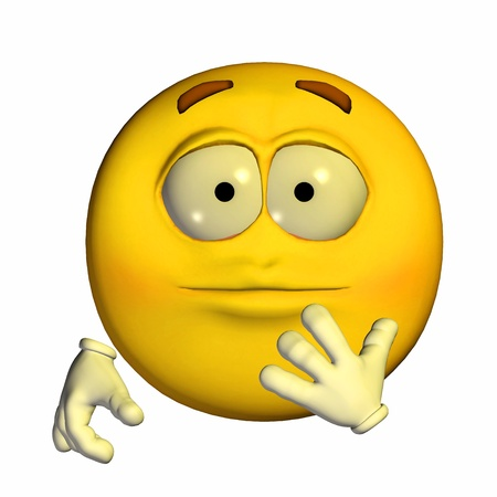 Illustration of a shocked yellow emoticon isolated on a white background illustration