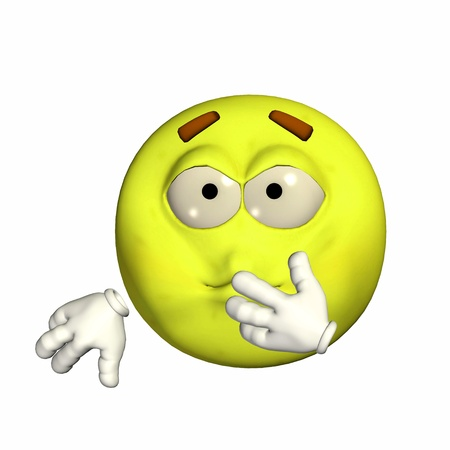 Illustration of a sick yellow emoticon isolated on a white background illustration