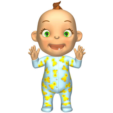 Illustration of happy cartoon baby isolated on a white background illustration