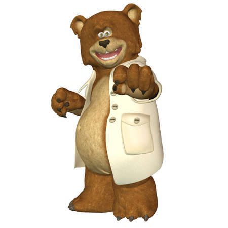 Illustration of doctor bear isolated on a white background illustration