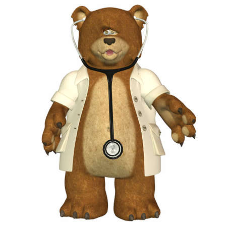 Illustration of doctor bear isolated on a white background Stock Illustration - 12674407