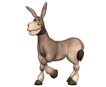 Ilustraci�n de un burro de dibujos animados aislado en un fondo blanco Foto de archivo - 12675197