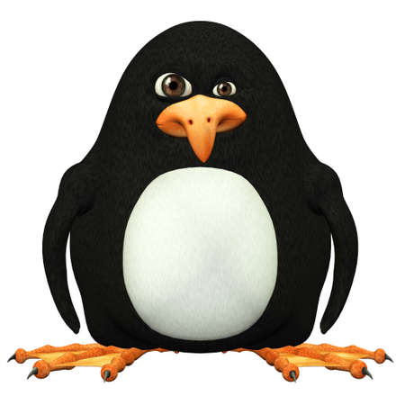 Illustration of a penguin isolated on a white background