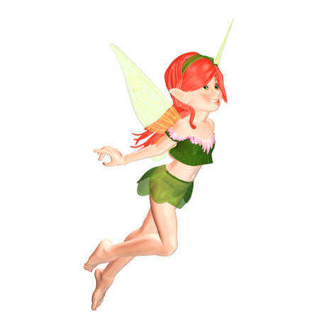 Illustration of a female fairy isolated on a white background Stock Illustration - 12743292