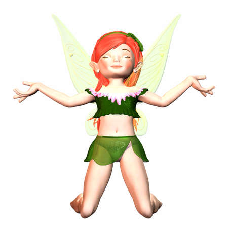 Illustration of a female fairy isolated on a white background Stock Illustration - 12743549