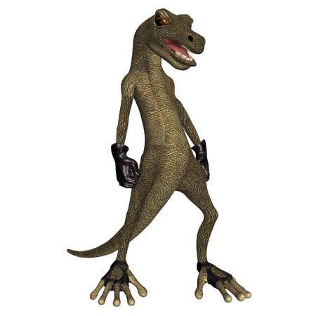 scoundrel: Illustrazione della salamandra del cattivo isolato su uno sfondo bianco
