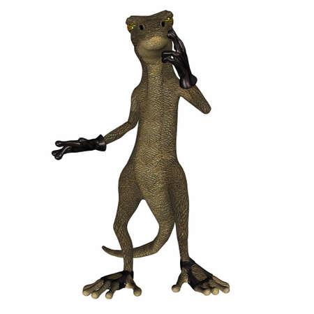 scoundrel: Illustrazione di salamandra del cattivo isolato su uno sfondo bianco
