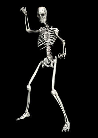 Illustration of a skeleton isolated on a black background illustration
