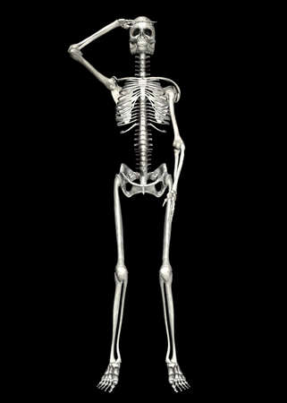 Illustration of a skeleton isolated on a black background illustration