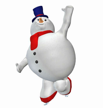 Illustration of a snowman isolated on a white background illustration