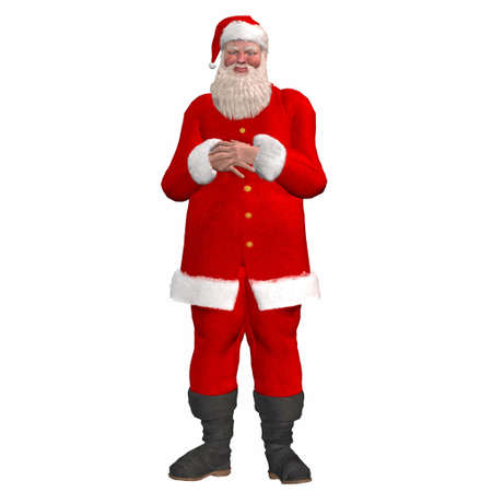 papa: Illustration of santa claus isolated on a white background Stock Photo