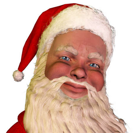kris: Illustration of the face of santa claus isolated on a white background