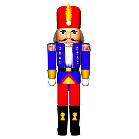 Illustration of a nutcracker isolated on a white background