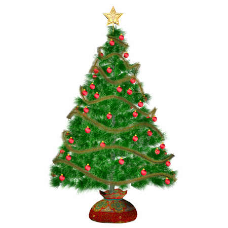Illustration of a christmas tree isolated on a white background