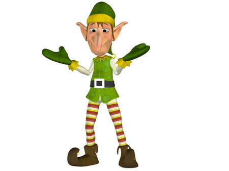 Illustration of a christmas elf isolated on a white background Stock Photo