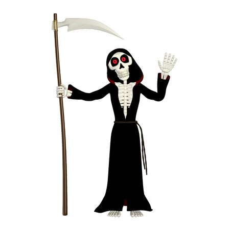 grim reaper: Illustration of a grim reaper isolated on a white background Stock Photo