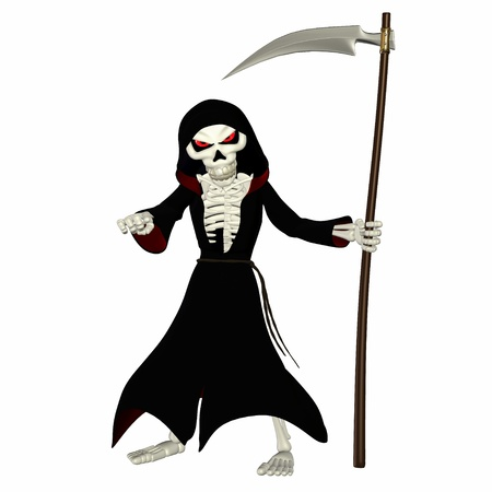 Illustration of a grim reaper isolated on a white background Stock Illustration - 13177450
