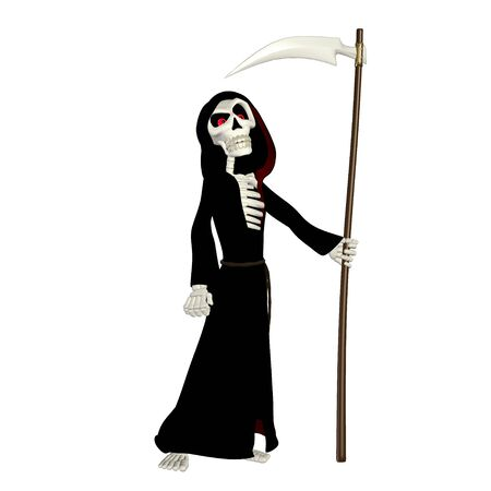 Illustration of a grim reaper isolated on a white background illustration