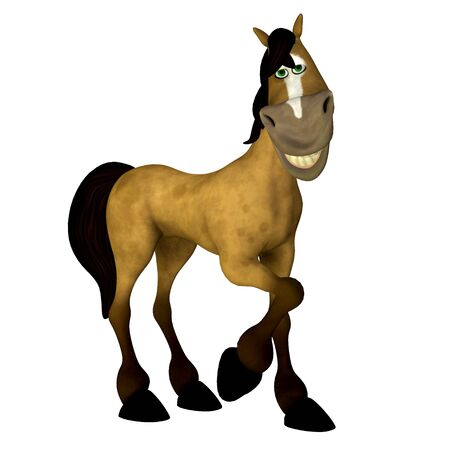 Illustration of a sexy cartoon horse isolated on a white background illustration