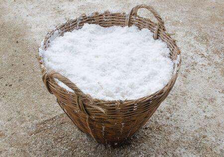 salt in the bamboo basket