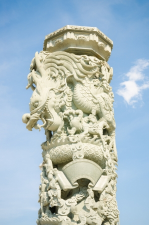 Dragon craving pillar photo