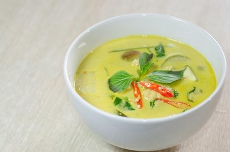 thai basil: Green chicken curry, Thai cuisine