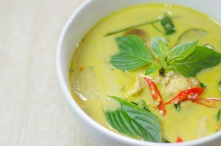 Green chicken curry, Thai cuisine photo