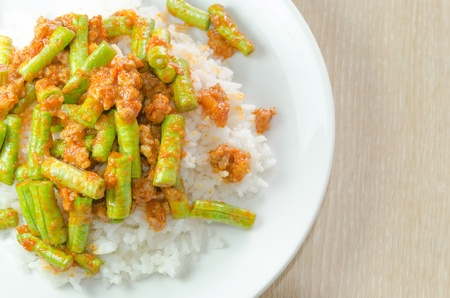 gastronome: Stir fried pork and curry paste wite rice