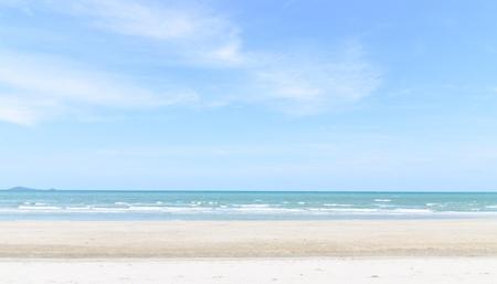 sand beach and waves of thai Sea photo