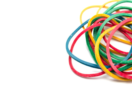 elastic: Elastic bands on a white background