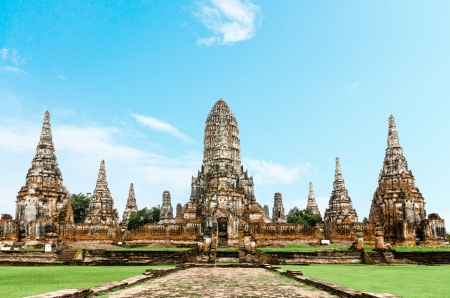 Chaiwatthanaram temple at Ayutthaya in Thailand photo
