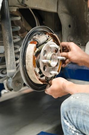 Change new brake pads photo