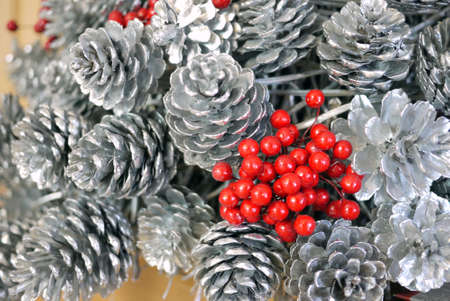red holly berries for christmas decoration